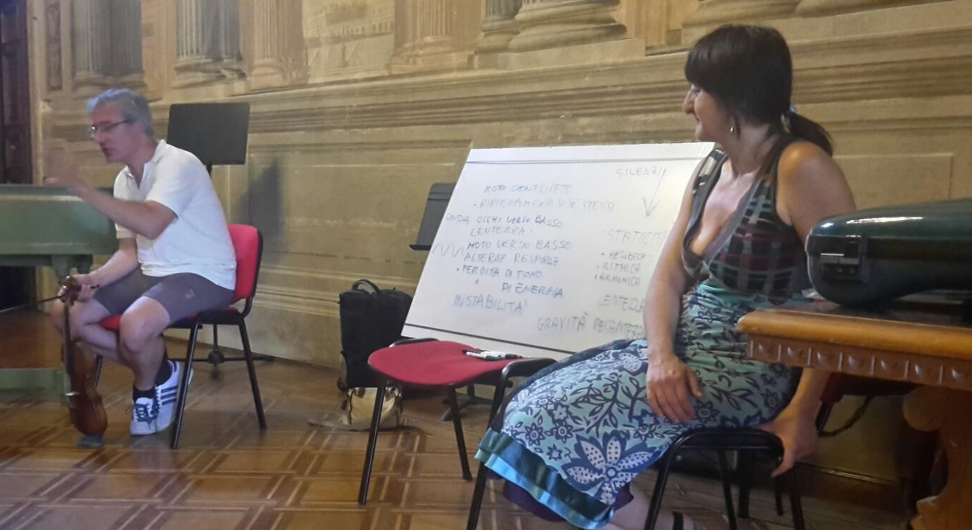 Course of Rhetoric and Gesture with Francesca Gualandri and Judy Tarling